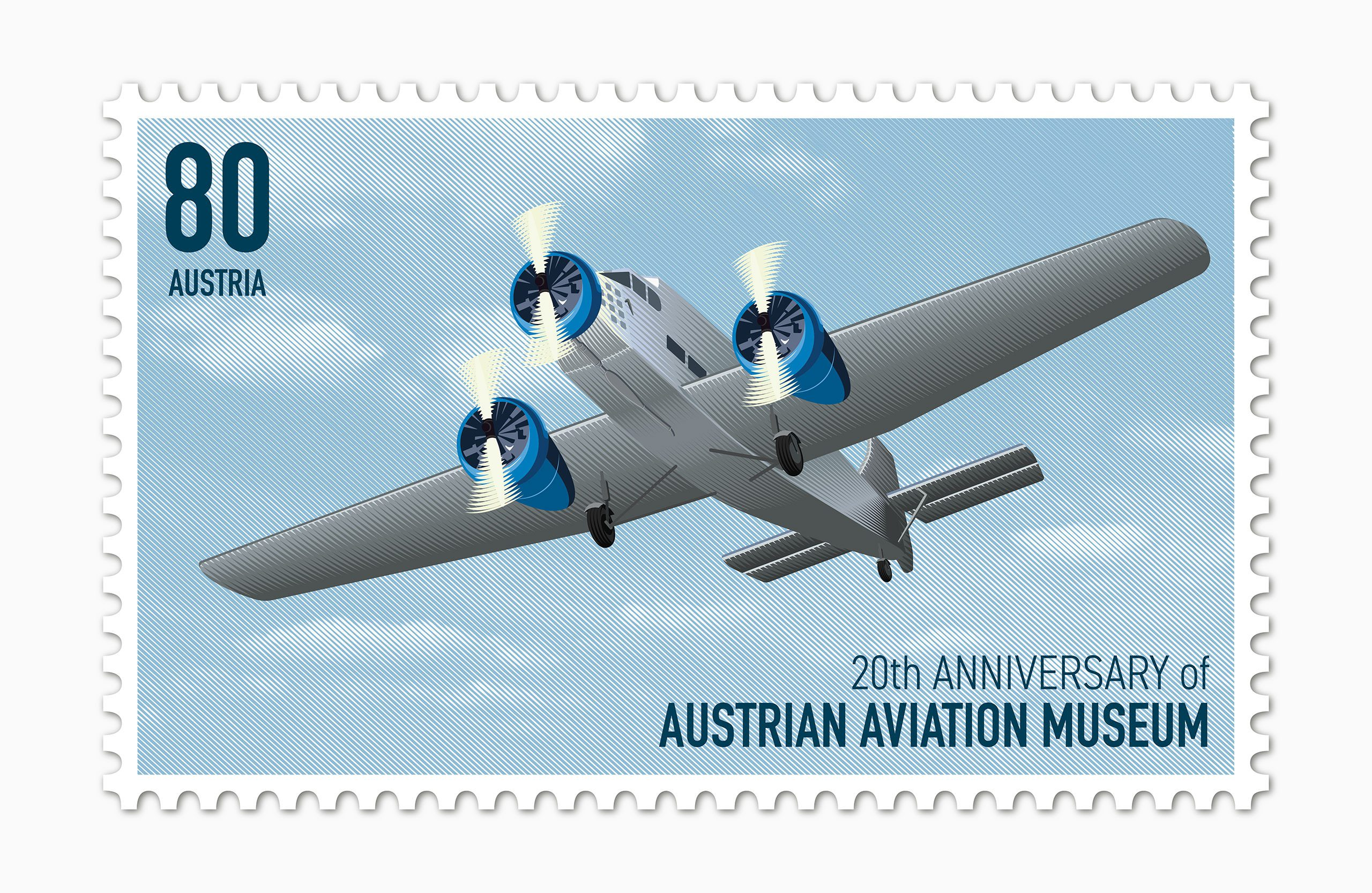 aircraft postage stamp