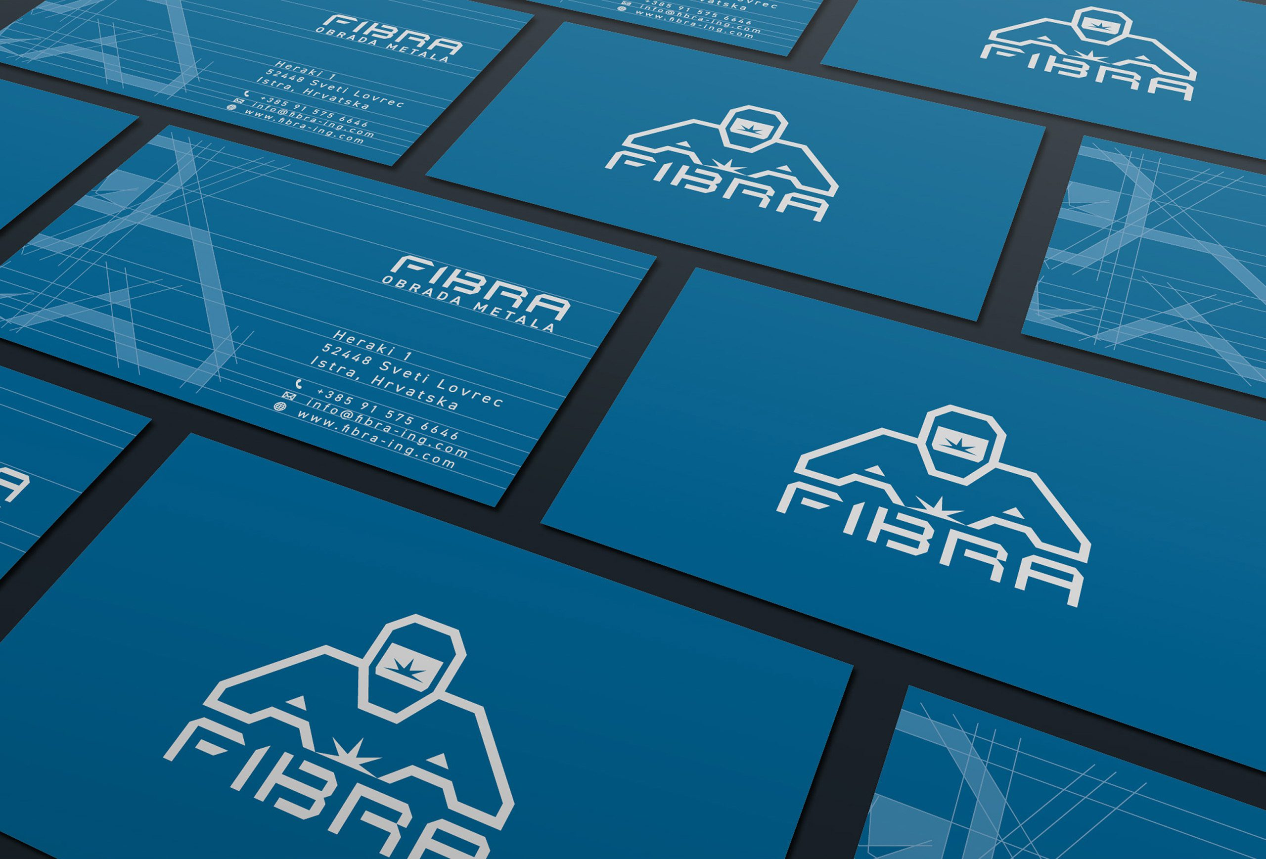 fibra business card design