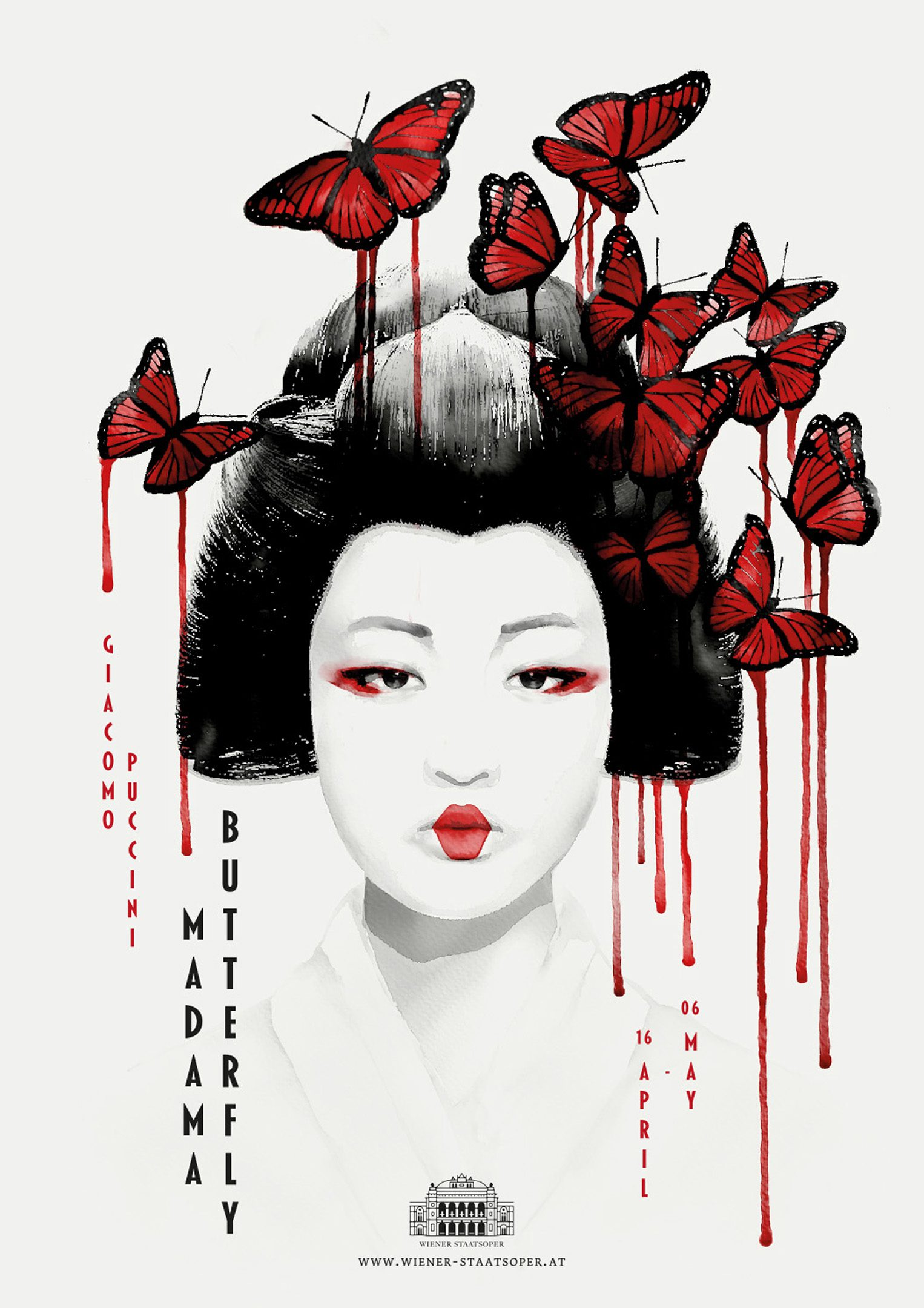 madama butterfly poster design